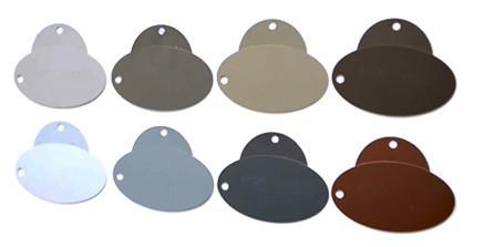 Gutter colors and gutter samples.  Gutter Coil selection link.
